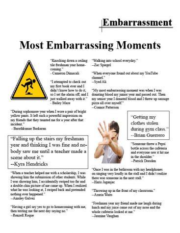 Seniors' embarrassing moments more memorable than embarrassing
