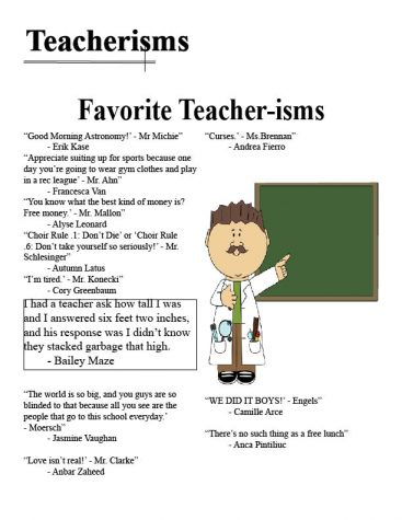Teachers inspire and speak memorable words