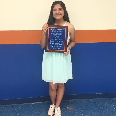 Senior achieves a prestigious award due to her hard work, dedication
