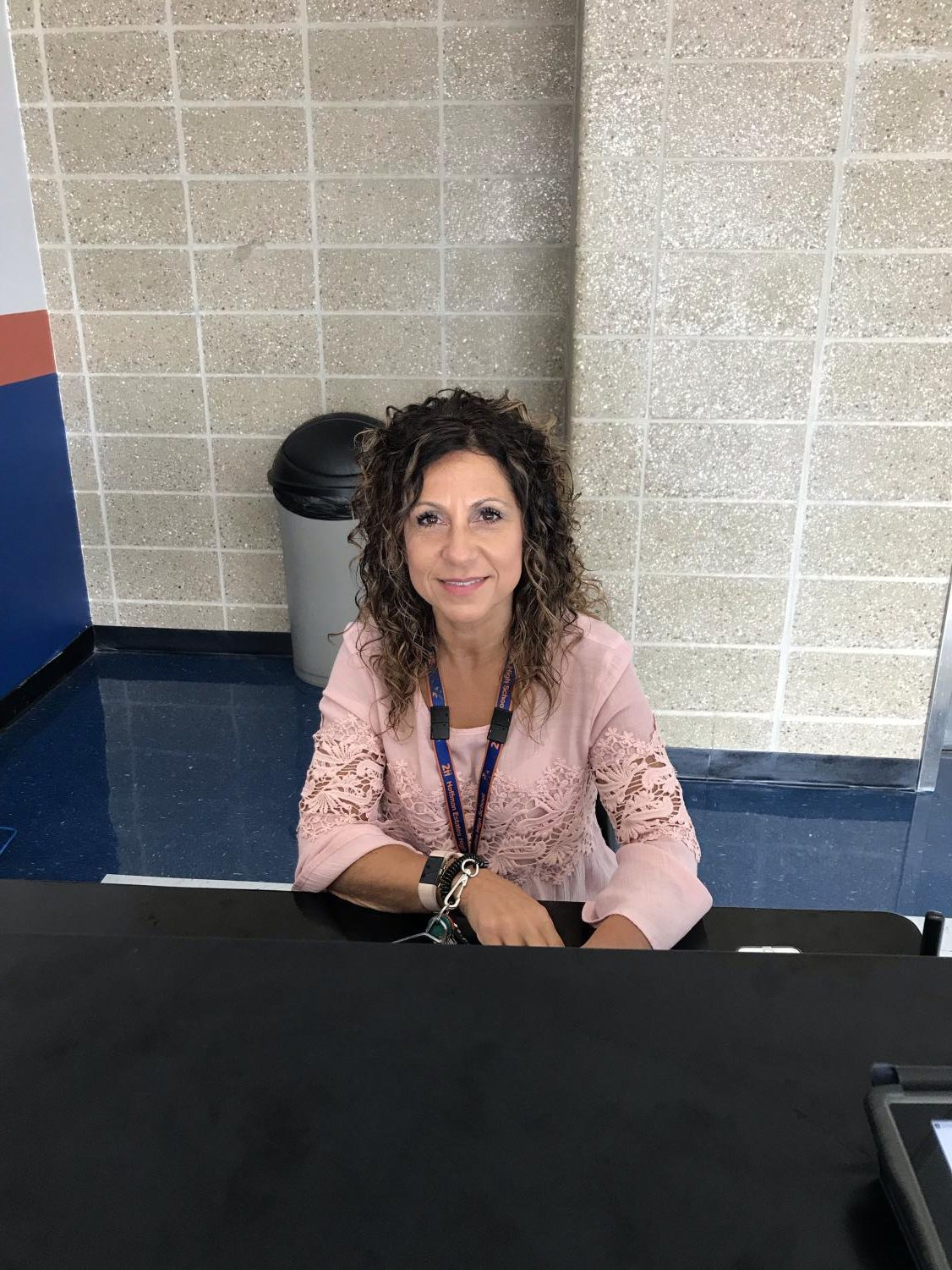 """I supervise the cafeteria, scan kids in and out by the doors and then I go back to the cafeteria where there is seminar. I also pass out slips and pull (students) out of class. I make sure that the students are safe. My schedule changes every quarter,"" said Student Supervisor Tina Canali."