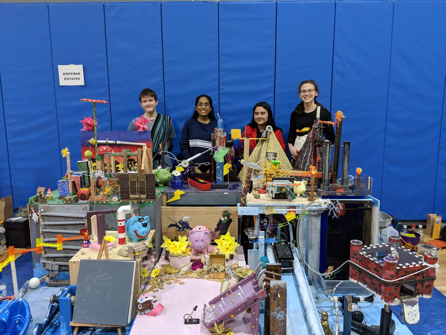 Ray Klest, Shraddha Zina, Ariana Correia, and Amber Dellacqua are proud that get to take their project to the next level.