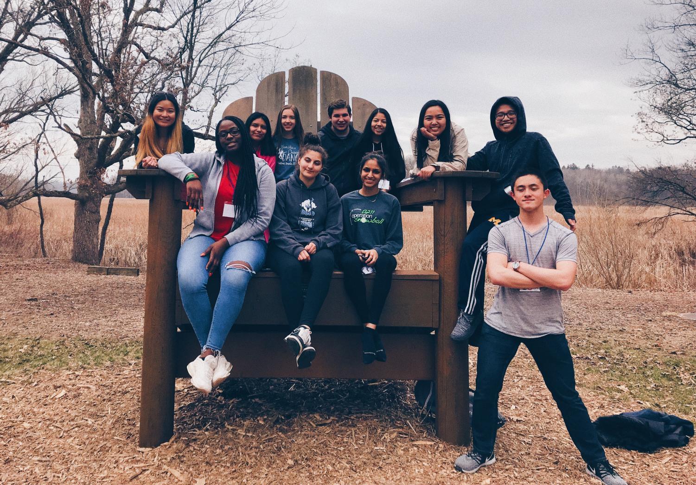 (Left to right) Andrea Sayson, Ebere Chukwuyem. Daniela Martinez, Anna Zawistowski, Rama Hammad, Austin Tranchita, Shravi  Kothari, Jasmin Rodriguez, Jodee Capati, Miguel Alano, Brendan Gates